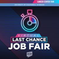 Virtual Last Chance Job Fair 2021