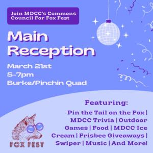 main reception 3/21 5-7pm Burke/Pinchin Quad