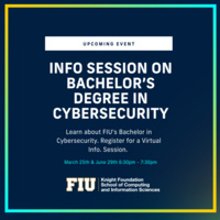 Info session on Bachelor's Degree in Cybersecurity