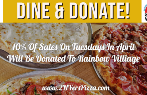 Dine & Donate Event at 2 NYers Pizza