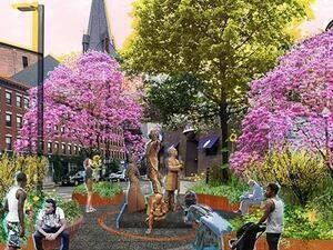 2020 Frederick Douglass Memorial Plaza Rendering.