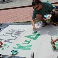 Earth Month Banner Painting