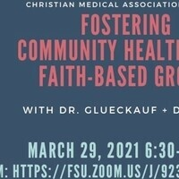 FOSTERING COMMUNITY HEALTH WITH FAITH-BASED GROUPS