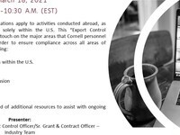 Office of Sponsored Programs Roundtable -Export Control Compliance Introduction