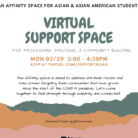 Virtual Support Space for Asian & Asian American Students