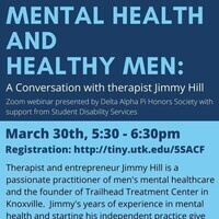 Therapist and entrepreneur Jimmy Hill is a passionate practitioner of men's mental healthcare and the founder of Trailhead Treatment Center in Knoxville.  Jimmy's years of experience in mental health and starting his independent practice give him a unique insight into the future of mental healthcare.  There will be a Q&A after the presentation.  Attendees will be able to submit questions anonymously.
