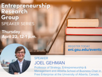Entrepreneurship Research Group Speaker Series  |  Joel Gehman