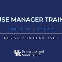 March House Manager Training