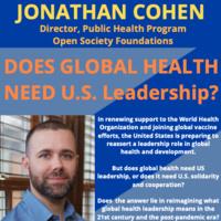 Does Global Health Need U.S. Leadership?