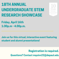 18th Annual Undergraduate Stem Research Showcase