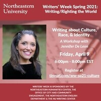 Writers' Week Spring 2021: Writing about Culture, Race, and Identity | A Workshop with Jennifer De Leon