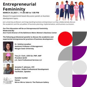 Conversation on Entrepreneurial Femininity