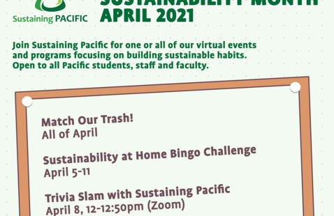 2021 Sustainability Month Calendar