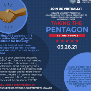"""""""Taking the Pentagon to the People"""" 1:1 recruiter meetings"""