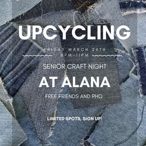 Upcycling: Senior Craft Night at ALANA