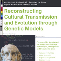 DH: Reconstructing Cultural Transmission and Evolution through Genetic Models