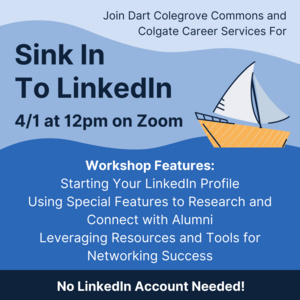 sink in to linkedin 4/1 at 12pm on zoom. no linkedin account needed!