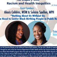 An Inquiry to Racism and Health Inequities: Why We Need to Center Black Birthing People in Public Health