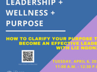 Leadership + Wellness + Purpose: How to Clarify Your Purpose to Become an Effective Leader with Liz Ngonzi | Dyson Leadership Week
