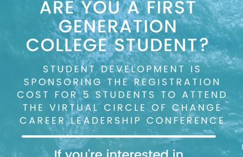 First Gen Career Leadership Conference Flyer