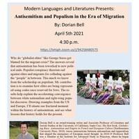 Modern Languages and Literatures Speaker Event - Dorian Bell