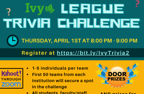Ivy league trivia challenge poster