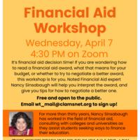 Online Financial Aid Workshop