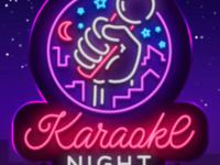 neon sign that says karaoke night