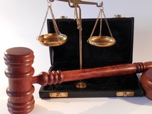gavel with scales of justice