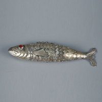 Spice container (besamim, fish form) 1800s