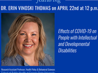 Effects of COVID-19 on People with Intellectual and Developmental Disabilities - Currents of Public Health ft. Dr. Erin Vinoski Thomas