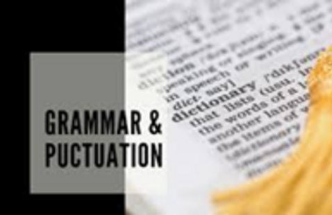 Dictionary page with the title grammar and punctuation