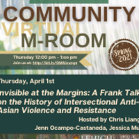 Community Virtual M-Room: Invisible at the Margins | Multicultural Affairs