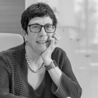Black and White Photo of Dr. Laura Mosqueda