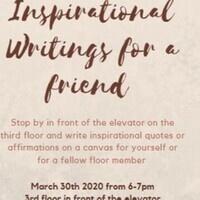 3rd floor Writings for Inspiration