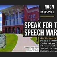 Speak For the Speech March