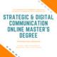Strategic & Digital Communication MS Degree- Information Session