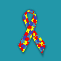 graphic of autism awareness ribbon
