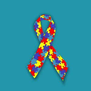 graphic of autism awareness ribbon