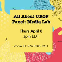 All About UROP Panel: Media Lab