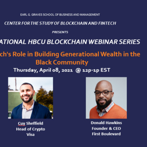 National HBCU Blockchain Webinar Series