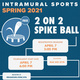 Intramural Sports: 2 on 2 Spike Ball