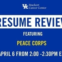 Resume Review with the Peace Corp