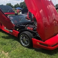 Cars shown at the event such as this Corvette