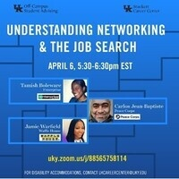 Understanding Networking & the Job Search: a Live Q&A - Off-Campus & Commuter Student Appreciation Week