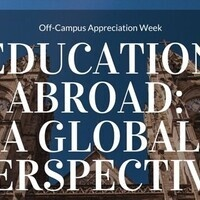 Education Abroad: A Global Perspective - Off-Campus & Commuter Student Appreciation Week