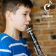 Boy playing clarinet