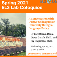A Conversation with UTRGV Colleagues on University Bilingual Language Policy
