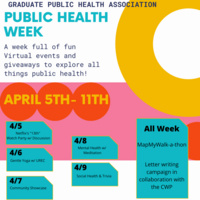 Public Health Week: Building Bridges to Better Health; Hosted by GPHA