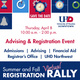 Advising & Registration Event - Thursday, April 8 from 10 am to 2 pm